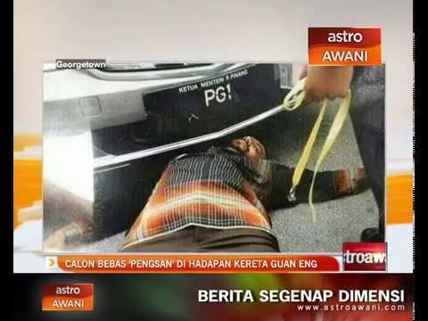 Calon Bebas, Abu Backer 'pengsan' di hadapan kereta Guan Eng