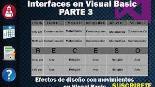 Interfaces en Visual Basic, Diseño de iconos con movimiento en visual basic