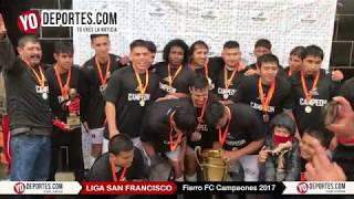 Fierro FC Campeones 2017 Liga San Francisco en Chicago