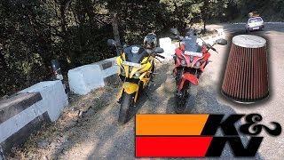 getlinkyoutube.com-Modified pulsar 200 rs with k&n filter Full Review | Sound of stock filter of pulsar 200 rs