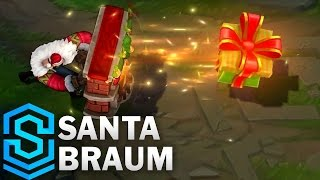 getlinkyoutube.com-Santa Braum Skin Spotlight - League of Legends