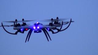 getlinkyoutube.com-Evening flight RC Quadcopter TARANTULA X6 Loops,Rolls,ect..Brunau/Allmend gerbest.com
