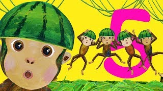 getlinkyoutube.com-Five Little Monkeys Jumping on the Bed - Children Songs, Nursery Rhymes, Kids Songs