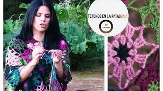 getlinkyoutube.com-Poncho con cuadrados. Bárbara Langman