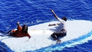 Men stranded at sea, rescued after eight days