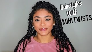 Hairstyles w/ Mini Twists - Natural Hair | jasmeannnn