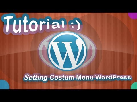 Tutorial WordPress Costum Menu pada Tab Navigasi Menu