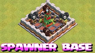 getlinkyoutube.com-NEW EPIC SPAWNER BASE 🔸TRAP YOUR TREE IN COC🔸Clash of clans Christmas