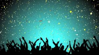 getlinkyoutube.com-Free Video Loop of Party Crowd with White and Gold Confetti
