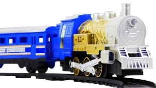 getlinkyoutube.com-Nikolaevsky Express Model Passenger Steam Train Toys VIDEO FOR CHILDREN