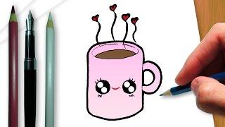 getlinkyoutube.com-Como desenhar uma xícara de chocolate quente
