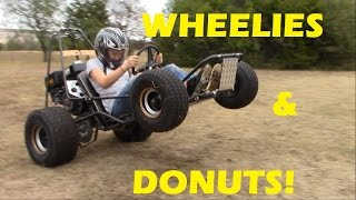 Go Kart Wheelies and Donuts