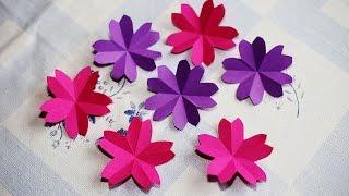getlinkyoutube.com-Origami Sakura Flower - How to fold a paper sakura flower - วิธีพับดอกซากุระ