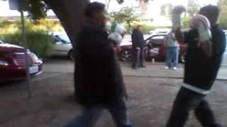 Flako and Benito boxing