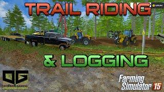 getlinkyoutube.com-Farming Simulator 2015- Logging In The Trails!