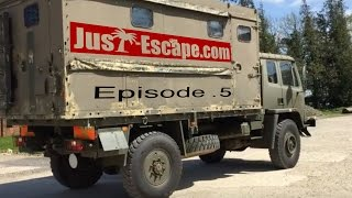 getlinkyoutube.com-Just Escape Ep. 5 - The Overland truck build begins.