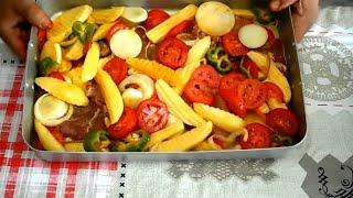 طريقة إعداد طاجين بطاطس بلحم البقر - بطاطا بالفرن بلحم البقر - Pommes de terre au boeuf