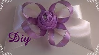 getlinkyoutube.com-Rosinha de fita de cetim enrolada com pérola DIY \ Rosie's rolled satin ribbon with pearl  DIY