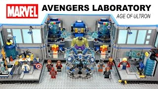 getlinkyoutube.com-Marvel's Avengers Science Laboratory Age of Ultron Unofficial LEGO KnockOff Set Speed Build