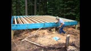 getlinkyoutube.com-Backwoods Cabin.Episode 5.Perimeter beams up and some joists installed.
