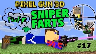 getlinkyoutube.com-Dad & Kids play Pixel Gun 3D: Sniper Farts (Team Fight Map) Part 17 - Face Cam Commentary Gameplay