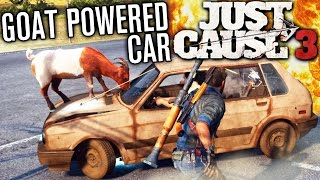 getlinkyoutube.com-GOAT POWERED CAR?! | Just Cause 3 Funny Moments