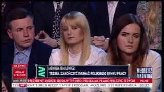 Młodzież kontra 592: Jadwiga Emilewicz (Zjednoczona Prawica) 25.03.2017