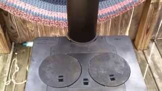 getlinkyoutube.com-Wood Stove Restoration part:2 Old made new again