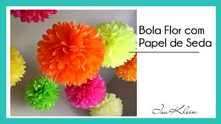 getlinkyoutube.com-Bola (flor) de papel de seda