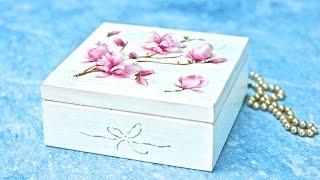 getlinkyoutube.com-Decoupage 3D  z folią sospeso -  magnolie - tutorial DIY