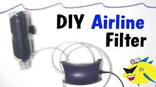 getlinkyoutube.com-How To Make: Cheap DIY Aquarium Filter (Air Line Filter)