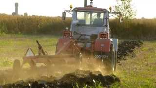 getlinkyoutube.com-T 150 works plowing & disc harrow LEMKEN