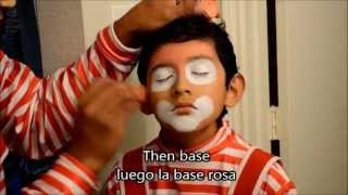 getlinkyoutube.com-Maquillaje payaso pikitos, nueva version.  Clown make up, new version (easy way)