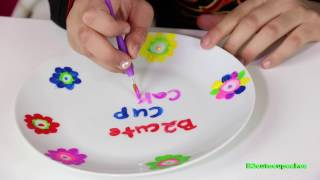 """KIDS DIY'S """"How To"""" Totally Me  Paint Your own Place Setting 