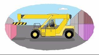 getlinkyoutube.com-Мультик - Раскраска. У... : Мультфильмы про машинки - Рабочая и строительная техника (сборник)