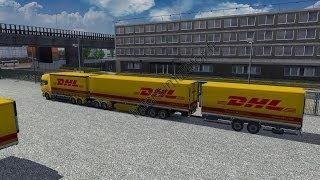 getlinkyoutube.com-Gigagigaliner DHL Scania | Euro Truck Simulator 2