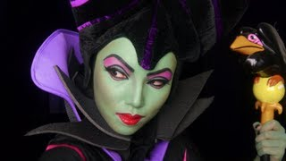 getlinkyoutube.com-Maleficent Make-up Transformation
