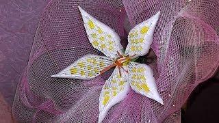 getlinkyoutube.com-3D origami how to make a lily modular origami tutorial