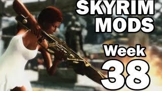getlinkyoutube.com-Skyrim Mods - Week #38: Dwarven Shotgun, Dragonfire Crossbow, Lilith's Sickle