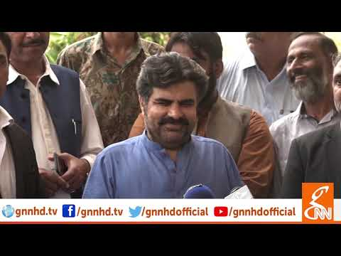 Nasir Shah talks to media