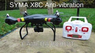 getlinkyoutube.com-Syma X8C Anti-vibration Camera Mount for quadcopter