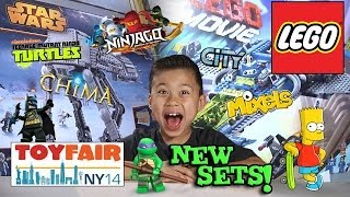 getlinkyoutube.com-2014 LEGO SETS!!! NY Toy Fair - LEGO MOVIE, CHIMA, NINJAGO, STAR WARS, SUPER HEROES, TMNT, and MORE!