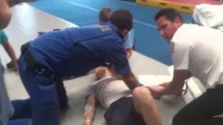getlinkyoutube.com-Funny broken arm put in place gymnastics fail