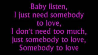 getlinkyoutube.com-Somebody To Love Justin Bieber Lyrics
