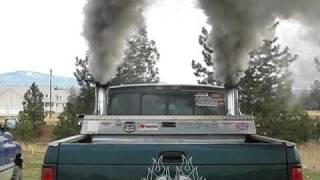 getlinkyoutube.com-Dodge cummins cold start, lots of smoke