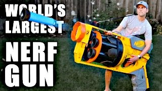 getlinkyoutube.com-World's LARGEST NERF GUN!!