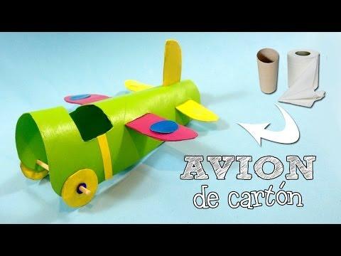 Avión de cartón | Manualidades con reciclaje