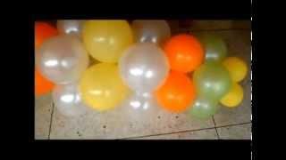 getlinkyoutube.com-Aprende a decorar con Globos - P 50 - Parte 3/3