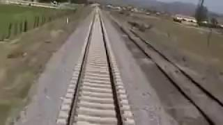 getlinkyoutube.com-Train hits car - Cab view