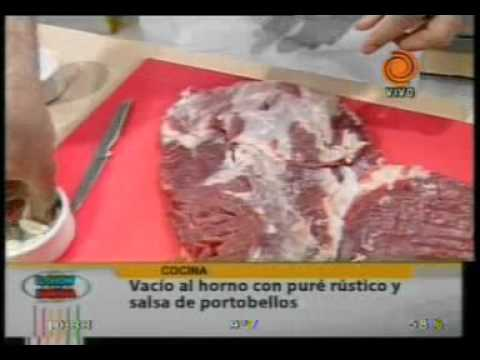 La receta del día Vacío al horno con puré rústico y salsa de portobello pte2 - 20110822.3gp